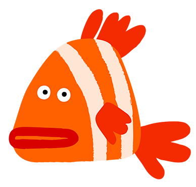 Jenny the Fish from «Boo the Cat and the Good Boy» animation series