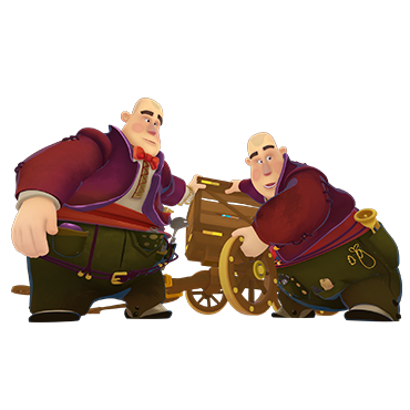 Tweedledee and Tweedledum from 'Fantasy Patrol'