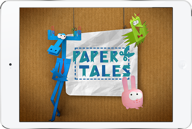 'Paper Tales' Mobile app and game for Android and iOS