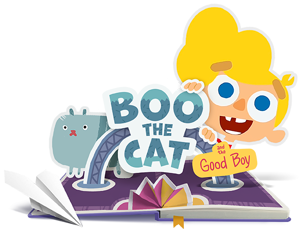 «Boo the Cat and the Good Boy» animation logotype